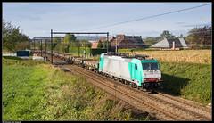 LINΞΛS 186 349-7 @ Soignies (Steven De Haeck) Tags: soignies hainaut henegouwen belgië belgique lineas lijn96 goederentrein güterzug freighttrain traxx bombardier baureihe186 hle29 isbergues chatelet