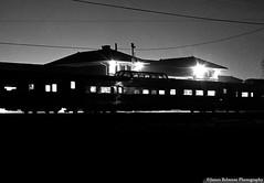 Vista Dome (jamesbelmont) Tags: riogrande drgw riograndezephyr provo utah streamliner passenger vistadome depot station railroad railway train night monochrome