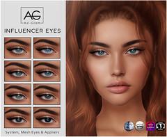 AG. Influencer Eyes (Avi-Glam) Tags: aviglam ag mesh system eyes omega catwa genus appliers bom second life sl