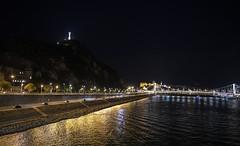 Budapest at night / Ночной Будапешт (dmilokt) Tags: город пейзаж ночь река венгрия корабль ship мост bridge city landscape night river hungary dmilokt