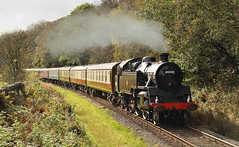 Autumn Standard Tank At Lumb. (Neil Harvey 156) Tags: steam steamloco steamengine steamrailway railway 80080 lumb irwellvale eastlancsrailway elr brstandardtank brstandardloco tankengine riddles
