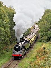 Standard Tank At Brooksbottom. (Neil Harvey 156) Tags: steam steamloco steamengine steamrailway railway 80080 brooksbottom summerseat eastlancsrailway elr brstandardtank brstandardloco tankengine riddles
