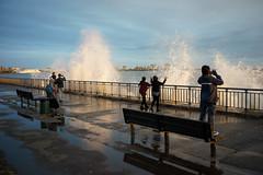 Spray (dtanist) Tags: nyc newyork newyorkcity new york city sony a7 7artisans 35mm brooklyn bath beach shore promenade waves crashing spray water ocean sea locals