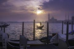 Venetian walks (Maurizio Fecchio) Tags: morning venice church water sunrise lights nikon foggy lagoon venezia veneto reflections boats atmosphere gondola haidafilters haidafiltersitalia