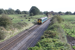 Arriva Trains Wales Sprinter class 150281 passes Alpraham in Cheshire with 1K71 Chester to Crewe service 12th October 2019 © (steamdriver12) Tags: 150281 sprinter arriva trains wales cheshire alpraham chester crewe service train diesel multiple unit dmu