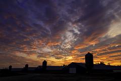 Rural Sunset (crabsandbeer (Kevin Moore)) Tags: capecharles farm rural smalltown sunset towns va virginia sky clouds orange sun light evening landscape cloudscape