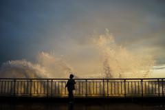 Tall (dtanist) Tags: nyc newyork newyorkcity new york city sony a7 7artisans 35mm brooklyn bath beach shore promenade waves crashing spray water ocean sea locals