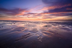 Sunset Structures (Ellen van den Doel) Tags: sky reflection nature nederland netherlands clouds reflectie ouddorp zonsondergang lucht sea outdoor 2019 september strand sunset beach landschap goeree zee overflakkee landscape wolken
