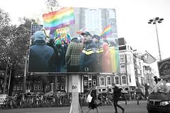 Roze in Blauw Amsterdam 20 years (joto25) Tags: politie police pride prideflag amsterdam cityhall stopera stadhuis europeanlgbtpoliceassociation egpa rainbowflag jotography lgbtpolice westermarkt westerkerk homomonument waterlooplein street streetphotography