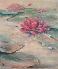 Kiss (Soudeh Vosoughi) Tags: painting flower water lily