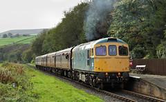 Blue Crompton/Blue Haze At Irwell Vale. (Neil Harvey 156) Tags: railway 33035 irwellvale edenfield eastlancsrailway elr class33 brblue railblue sulzertype3 crompton