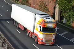 McConaghy Scania R520 IRZ9004 - M60, Stockport (dwb transport photos) Tags: mcconaghy scania hgv truck irz9004 m60 stockport
