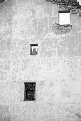 Ruined building (Mikhail Arefev) Tags: vyborg ruined building bw