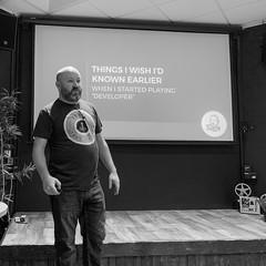 Gary presenting at PHPSW