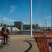 biking in a ship