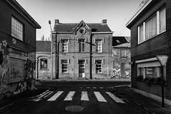 Empty Streets (Pieter de Knijff Photography) Tags: empty streets abandoned bw blackandwhite monochrome urban exploring urbex doel belgium