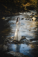 Fade into oblivion (Emily Boyer Photography) Tags: adirondacks adk adks art fineart ghost ghosttown hauntedforest haunted horror canon canonphotography canon5d wedding bride emilymartin tahawus landscape forest woods conceptualphotography conceptual lightroom photoshop