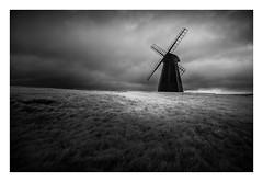 Rottingdean Windmill / October 11th (Edd Allen) Tags: country countryside bw blackandwhite uk england eastsussex southeast nikond610 nikon d610 zeissdistagon18mm zeiss distagon 18mm infrared architecture wind windmill rain clouds atmosphere atmospheric rottingdean