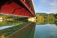 IMG_3567 (ChPflügl) Tags: salzburg österreich austria autumn fall herbst spazieren puch bei hallein urstein sunshine altweibersommer salzach kitsch chpflügl chpfluegl christian europe europa eu world erde bridge brücke