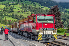 Pinzgauer Lokalbahn - Bahnof Krimml - Salzburg - AT (Frans Berkelaar) Tags: gmeinderlokomotivenfabrik gmeinder vorderkrimml waldimpinzgau salzburg oostenrijk pinzgauerlokalbahn bahnofkrimml at vs83 gmeindergmbh plb d75bbse