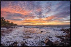 Sunrise. Kealia Beach, Kauai. (peterrath) Tags: landscape seascape kealia kauai hawaii sunset sunrise water ocean pacific rocks sun sky clouds blue canon eos 5dsr