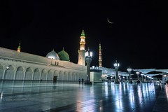 Madinah, KSA (Photonistan) Tags: madinah ksa saudi mohammad photography arab saudiarab reflection crescent dome islam tomb muhammad photonistan moon monument