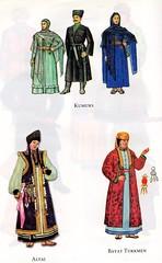 Traditional costumes of Turkic people: Kumuks, Altai & Bayat Turkmen (ali eminov) Tags: costumes traditionalcostumes folkcostumes turkicpeople kumuks altai bayatturkmen
