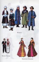 Traditional costumes of Turkic people: Kyrgyz, Kazan Tatars & Karachay-Balkars (ali eminov) Tags: costumes traditionalcostumes folkcostumes turkicpeople kyrgyz kazantatars karachaybalkars