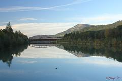 IMG_3598 (ChPflügl) Tags: salzburg österreich austria autumn fall herbst spazieren puch bei hallein urstein sunshine altweibersommer salzach kitsch chpflügl chpfluegl christian europe europa eu world erde bridge brücke