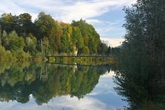 IMG_3591 (ChPflügl) Tags: salzburg österreich austria autumn fall herbst spazieren puch bei hallein urstein sunshine altweibersommer salzach kitsch chpflügl chpfluegl christian europe europa eu world erde bridge brücke