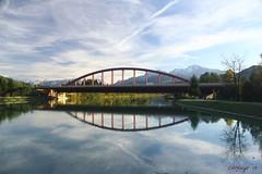 IMG_3564 (ChPflügl) Tags: salzburg österreich austria autumn fall herbst spazieren puch bei hallein urstein sunshine altweibersommer salzach kitsch chpflügl chpfluegl christian europe europa eu world erde bridge brücke