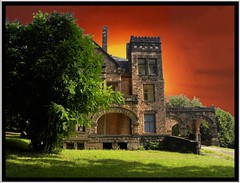 Sharon PA ~ Victorian Stone Mansion on The Hill - Historic Architecture (Onasill ~ Bill Badzo - 67 M) Tags: sharon pa mercer county mansion romanesque richardsonian abandon onasill arch architecture arche victorian stone rockyhillcastle chad ford destroyed by fire sunset