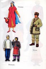 Traditional costumes of Turkic people: Uyghur, Tuvan & Dungans (ali eminov) Tags: costumes traditionalcostumes folkcostumes turkicpeople uyghur tuvan dungans