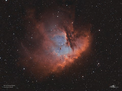 NGC281_Bi-Colour_20-9-2019 (MarkLB57) Tags: ngc281 pacmannebula pacman nebula narrowband astronomy astrophotography azeq6gt zwoasi1600mmcool zwoefwelectricfliterwheel bicolour ha oiii meade6000115mmrefractor marklb57 emissionnebula cassiopeia