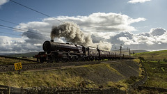Powering Past (4486Merlin) Tags: england europe northwest unitedkingdom transport steam railways wcml 6201 princesselizabeth greenholme exlms lms8pprincessroyal cumbria wcrc rytc cumbrianmountainexpress