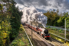 a rare occasion... (stephen mcgahon) Tags: steam 6201 princesselizabeth cumbrianmountainexpress carnforth wcml railway lancashire northwest