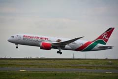 (CDG) Kenya Airways Boeing 787-9 Dreamliner 5Y-KZG Takeoff runway 27L (dadie92) Tags: cdg roissy lfpg kenyaairways boeing b787 b7879 5ykzg takeoff runway27l spotting airplane aircraft nikon d7100 sigma tamron danieldanel