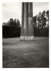 Monolithic (Robert Drozda) Tags: portland oregon stjohns cathedralpark stjohnsbridge bridgesupport concrete park monochrome ilfordhp5 film olympusxa2 bluemooncamera 2019154 drozda
