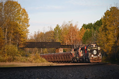The color at Munger this year... (CN Southwell) Tags: cn ic illinois central death star sd402 dmir missabe ore train mn minnesota fall peak 2019