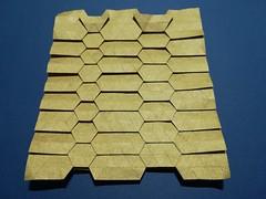 Hexagon tessellation (ISO_rigami) Tags: origami tessellation elephanthide