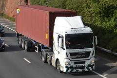 Freightliner MAN DF16KFW - M60, Stockport (dwb transport photos) Tags: freightliner hgv truck man df16kfw m60 stockport