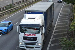 Weaver Transport MAN T19WHL - M60, Stockport (dwb transport photos) Tags: weavertransport man hgv truck t19whl m60 stockport