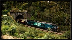 The Snowdon Panorama. (peterdouglas1) Tags: directrailservices class68 llandygaitunnel northwalescoastrailway