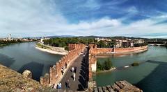 unforgettable bridges. (discoveyvans) Tags: italy castel vechio explore travel solo city bridge xiaomi a2 lite phone pics panoramic