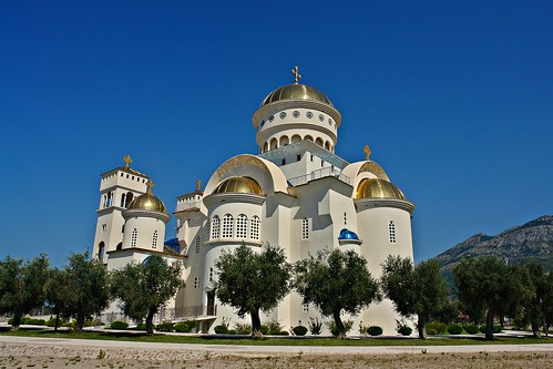 Bar,Montenegro,Serbian orthodox church St. Jovan Vladimir...