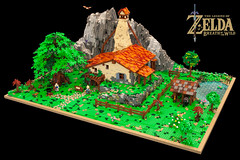 ZELDA- Link's House (Boba-1980) Tags: afol boba1980 breathofthewild building garnon hateno house ids lego moc nintendo roguebricks switch zelda game landscape botw