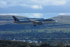 Photo of EDA34-49 Qatar Airways Airbus 350-941 A7-ALK on landing approach to Edinburgh Airport with flight from Doha