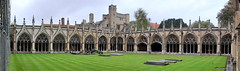 The Cloisters..   (three picture stitch) (Mike-Lee) Tags: cloisters canterburycathedral church canterbury ontheroadagain oct2019 mike jill kent campervan mikejill downsouthandeast stitch autostitch 3pictures