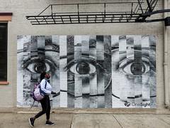 One Sight (J Wells S) Tags: onesight streetscene streetart urban mural poster sign fireescape otr overtherhine findlaymarket cincinnati ohio