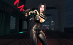 Mall Security (beccaprender) Tags: catwa catya bento maitreya lara session rose thewhitecrow theforge limerence poseidonposes cocoon sf cyberpunk latex catsuit